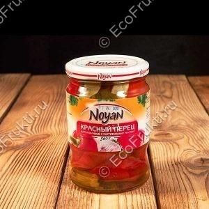 Маринованный красный перец 560 гр. Ноян
